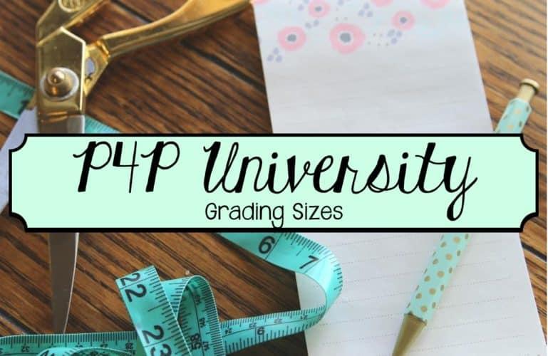 P4P University:: Grading Sizes