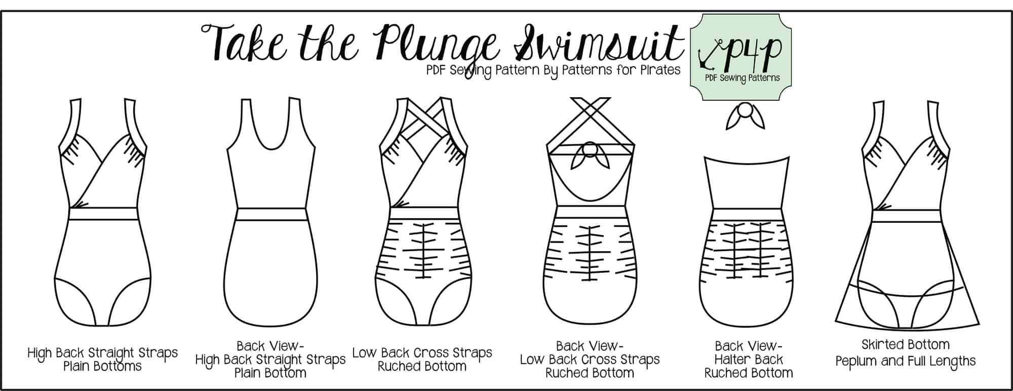 Take the Plunge Swimsuit :: New Pattern Release! - Patterns for Pirates