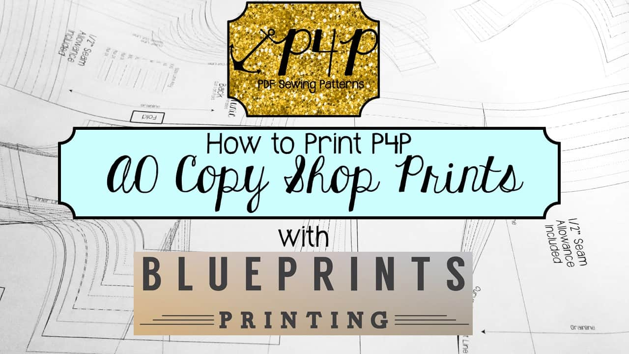 How to Print P4P A0 Copy Shop File with Blue Prints Printing