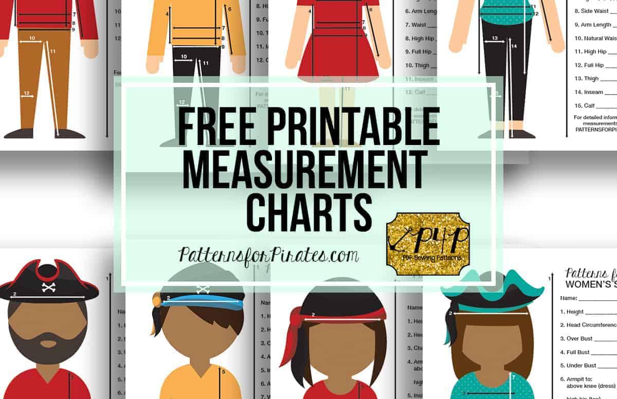 free printable measurement charts