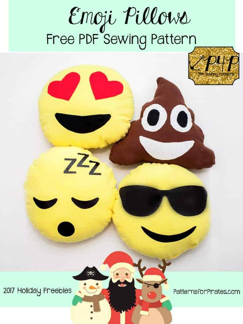 Free Emoji Pillow Pattern Patterns For Pirates