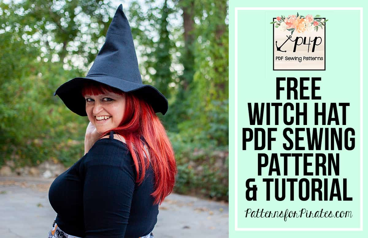 Witch Hat Free Sewing Pattern Tutorial Patterns For Pirates