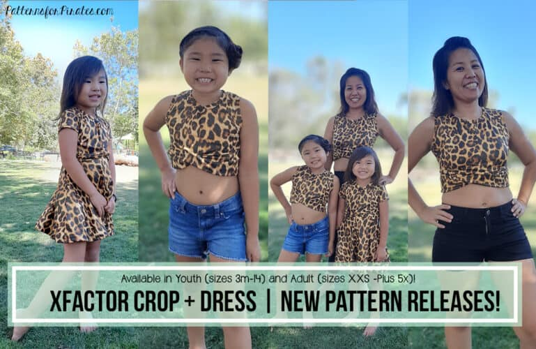 New Pattern Releases :: XFactor Crop + Dress!