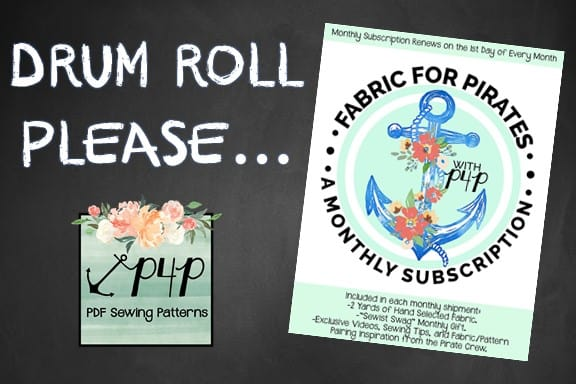 Fabric for Pirates:: A Monthly Subscription Box