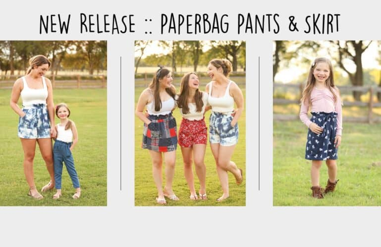Paperbag Pants + Skirt :: New Pattern Release!